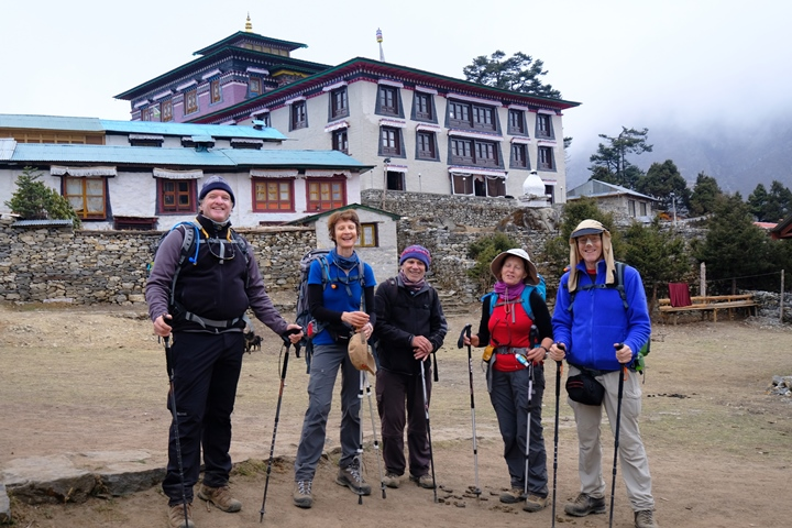 Happy clients at Thyangboche blog size